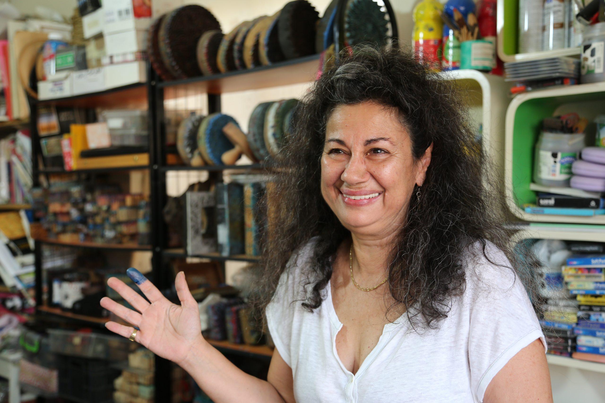 Syrian block-printing with Zena Sabbagh for ISHKAR