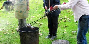 Raku firing workshop