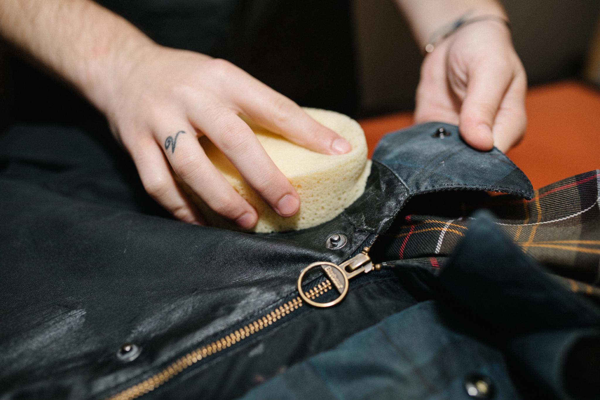 Barbour Jacket Rewaxing
