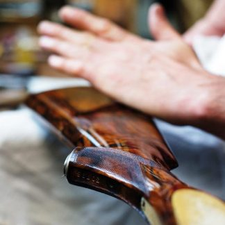Gun-Finishing Demonstration at Purdey with craftsman Tom Nicholls