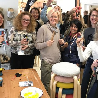 A weekend of upholstery and natural dyeing courses at Shoreditch Design Rooms