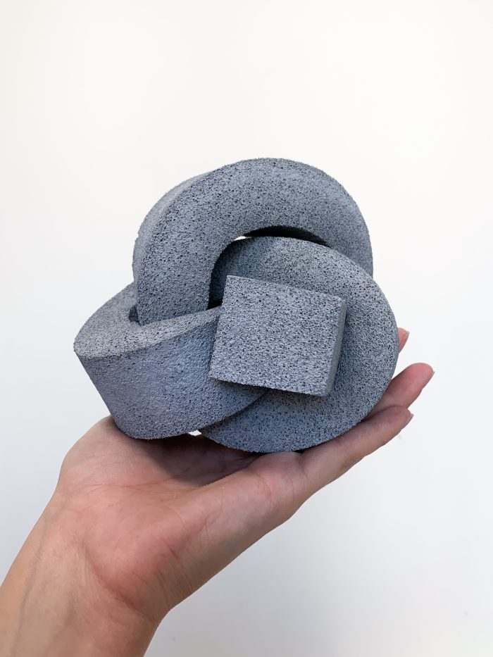 A thick, grey-coloured foam knot.