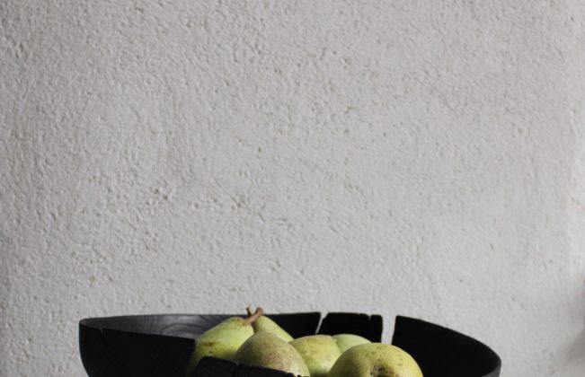 Jayne Armstrong - Scorched green-turned oak platter