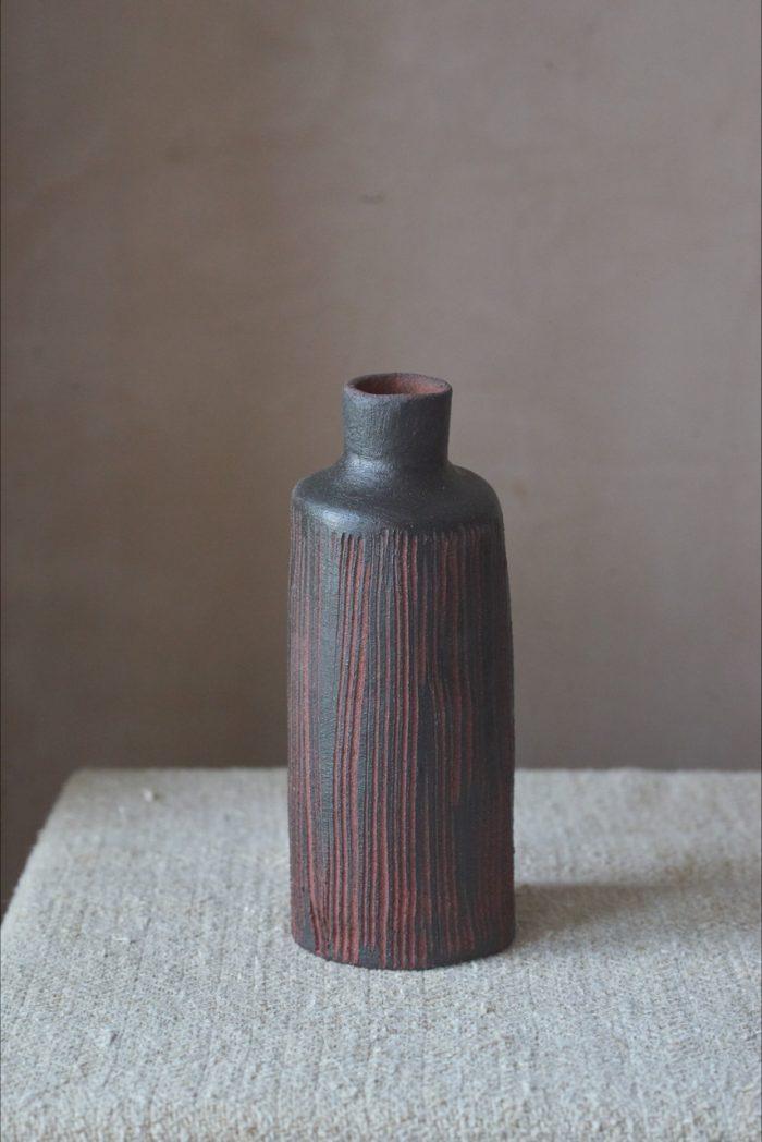 Sarah Maingot - Black + Red Groove Bottle